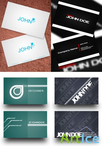 PSD Business Cards 2011 pack # 1