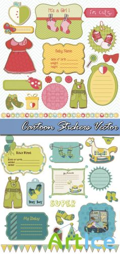 Cartoon Stickers Vector