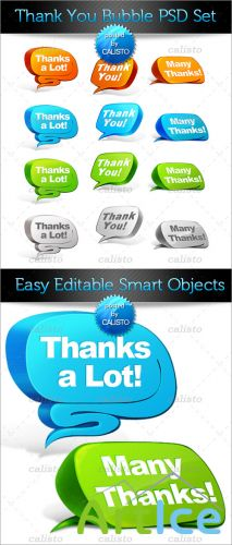 PSD Template - Thank You Bubble