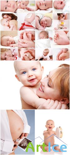 Baby Cliparts - Nursing a baby, mother and child, motherhood