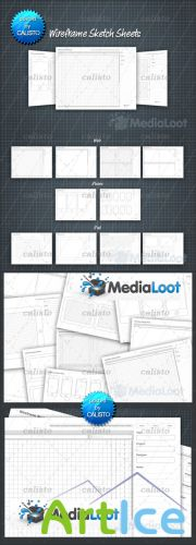 MediaLoot - Wireframe Sketch Sheets