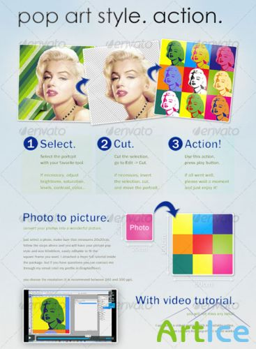 GraphicRiver - Pop art style (like Andy Warhol). PS ACTION