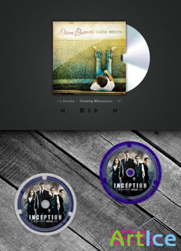 CD-Album Psd and dvd new plastic
