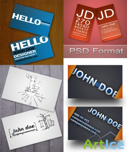 PSD Business Cards 2011 pack # 11