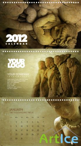Calendar PSD 2012 - Stone Faces