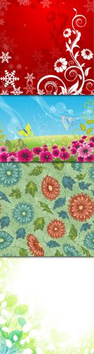 Vector Flowers Backgrounds - 1