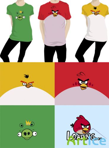 Shirts Angry Birds Vector