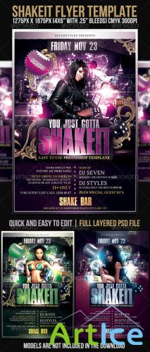 GraphicRiver - Shakeit Flyer Template