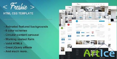 ThemeForest - Freshie HTML CSS Template (All Colours) - Rip