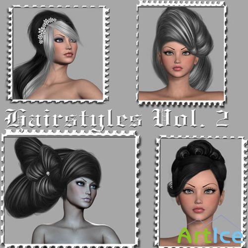 Hairstyles Psd Templates Vol. 2