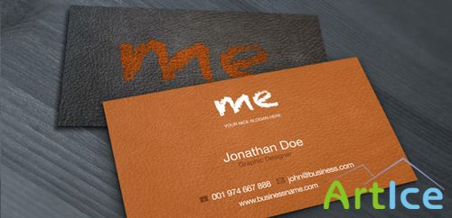 Leather Business Card Template Print Ready