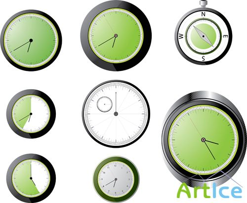 Vector Analog Clock
