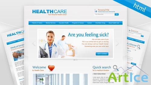 MojoThemes - Health Care – HTML Template - Rip