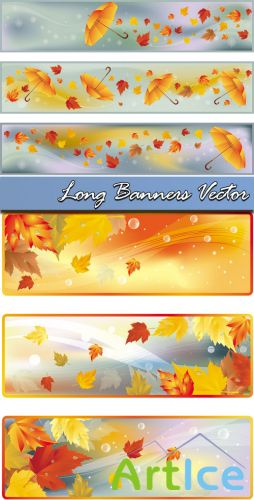 Long Banners Vector