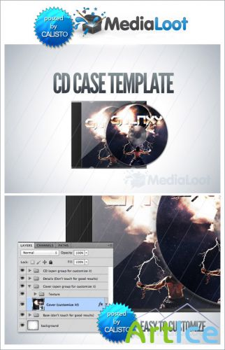 CD Case Mock Up Template - MediaLoot