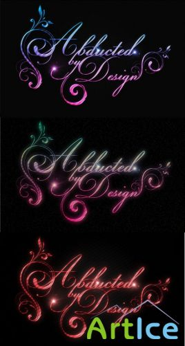 Shiny Calligraphy Text Effect for Photoshop