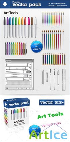 Premium Vector Pack – Art Tools