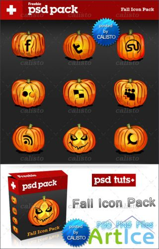 Fall Icon Pack – 10 Social Media Icons