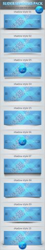 Web Slider Shadows Pack PSD Template