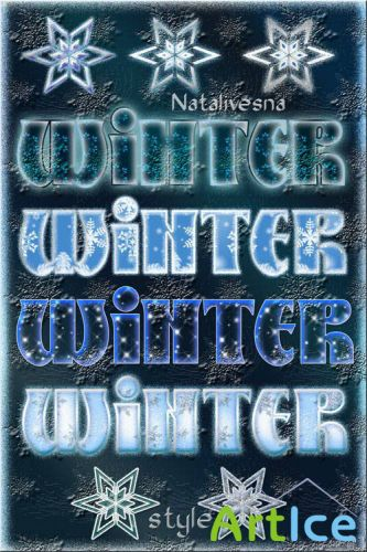 Winter Styles and Patterns for Photoshop