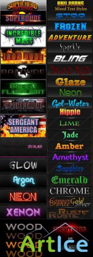 Collection of Text Style for Photoshop pack # 4