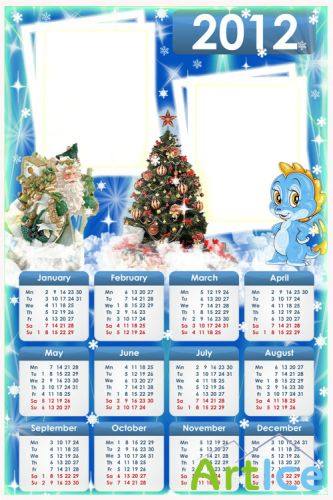Colorful Calendar for Photoshop for 2012