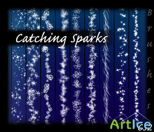 Brushes for Photoshop - Catching Sparks