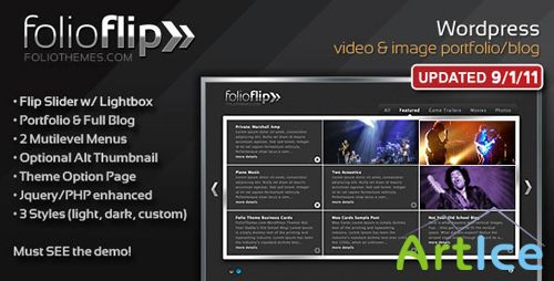 ThemeForest - WP FolioFlip v1.4