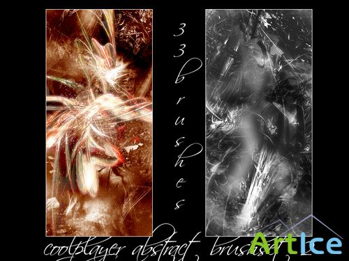 Abstract Brushes set 2