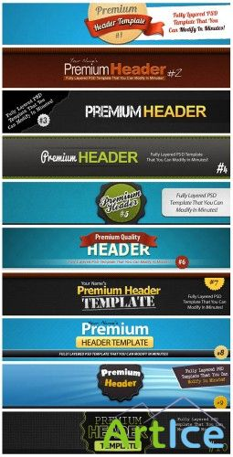Premium Headers - PSD Template
