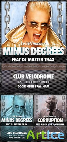 Minus Degrees Ice Cold Flyer Template