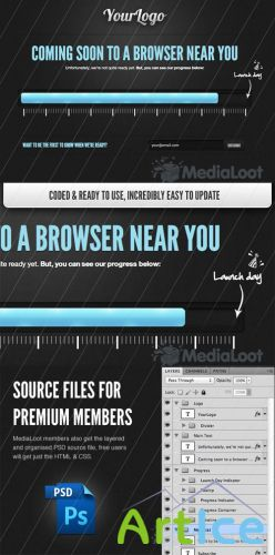 HTML5 Coming Soon Template - MediaLoot