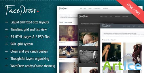 ThemeForest - FacePress - Authors timeline and content sharing - RiP