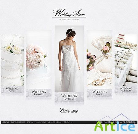 Magento Theme - Wedding Store Template