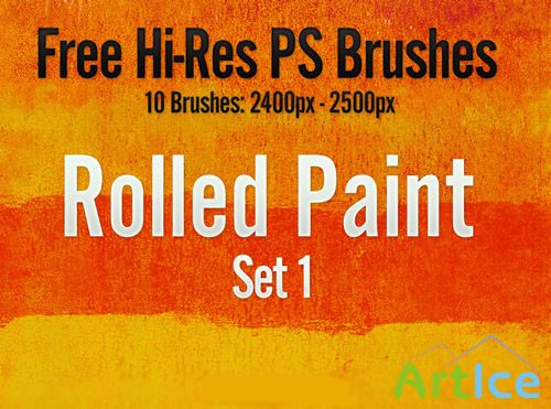 Rolled Paint Brush Set 1 for Photoshop