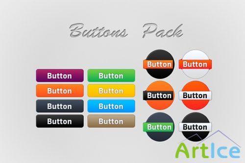 Elegant and Professional Set of Buttons