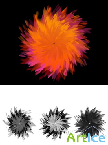 Feathery Flowers Brushes Set for Photoshop
