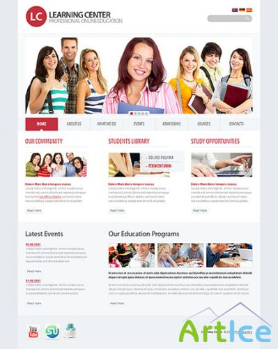 Learning Center Education Web Templates