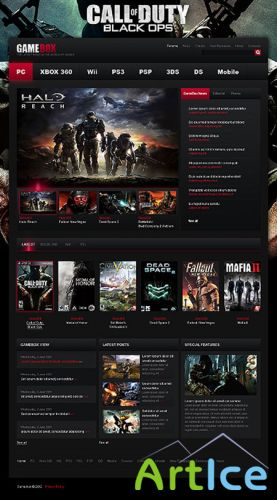Gamebox Wordpress Template
