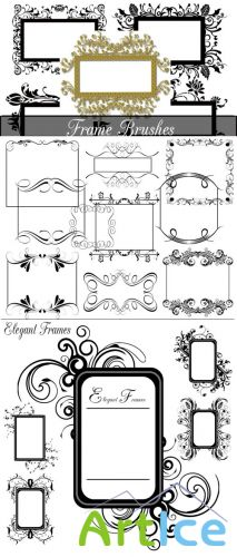 Elegant Decorative Frame Brushes Set for Photoshop