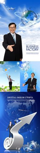 Business Partner in business psd for Photoshop