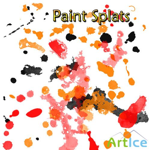 Paint Splatter Brushes for Photoshop
