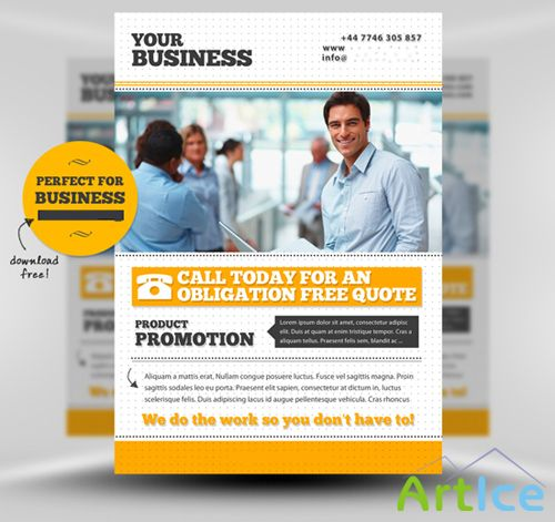 Business Flyer Templates Mockup for Photoshop