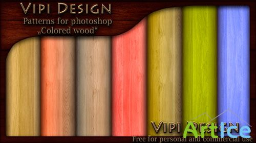 Patterns for Photoshop - Colored Wood