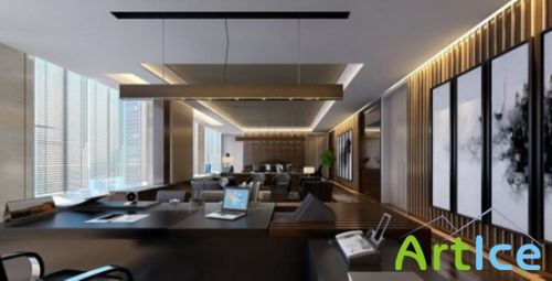 3D.Model. Office of the top management
