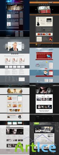 Web Templates Psd Pack  For Photoshop