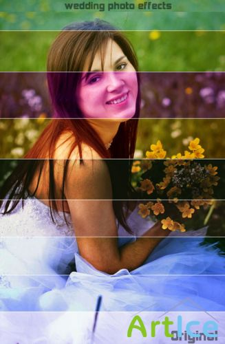 Actions for Photoshop - Wedding Photo Effects