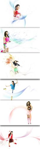 Collection Lovely Psd Girl Source Pack 9 for Photoshop
