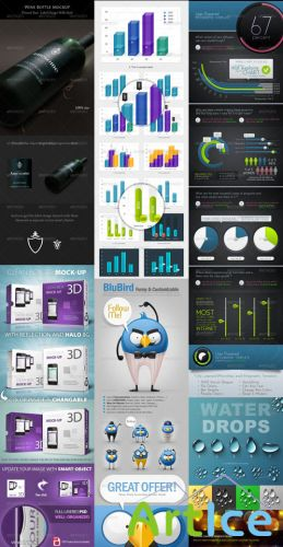 GraphicRiver Collection for Photoshop pack #1