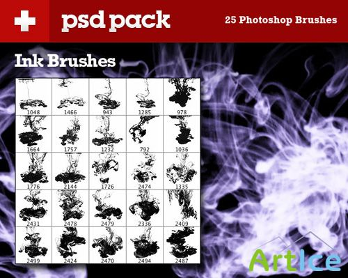 Exclusive Brush Pack – 25 Ink Brushes
